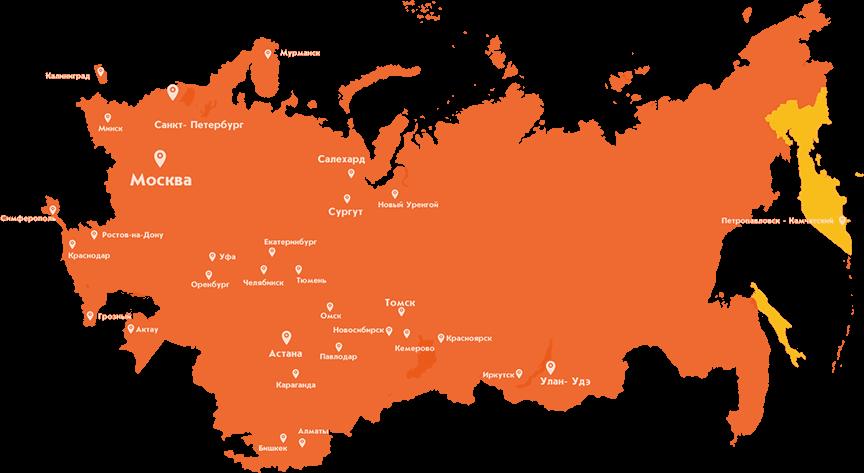 География выгрузки ПК Айсберг8